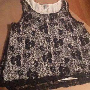 Girls lace tank